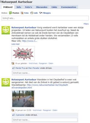 Facebook Natuurpunt Aartselaar